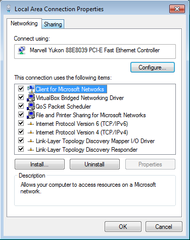 to connect through this computer,s internet connection . Lalu klik OK